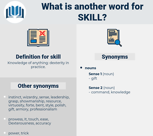 skill, synonym skill, another word for skill, words like skill, thesaurus skill