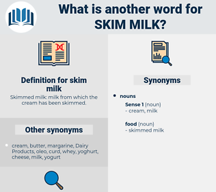 skim milk, synonym skim milk, another word for skim milk, words like skim milk, thesaurus skim milk