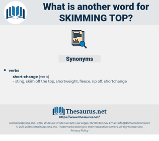 skimming top, synonym skimming top, another word for skimming top, words like skimming top, thesaurus skimming top