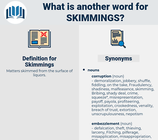 Skimmings, synonym Skimmings, another word for Skimmings, words like Skimmings, thesaurus Skimmings