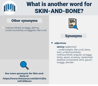 skin and bone, synonym skin and bone, another word for skin and bone, words like skin and bone, thesaurus skin and bone