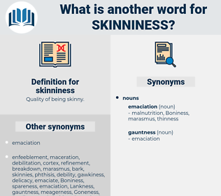 skinniness, synonym skinniness, another word for skinniness, words like skinniness, thesaurus skinniness