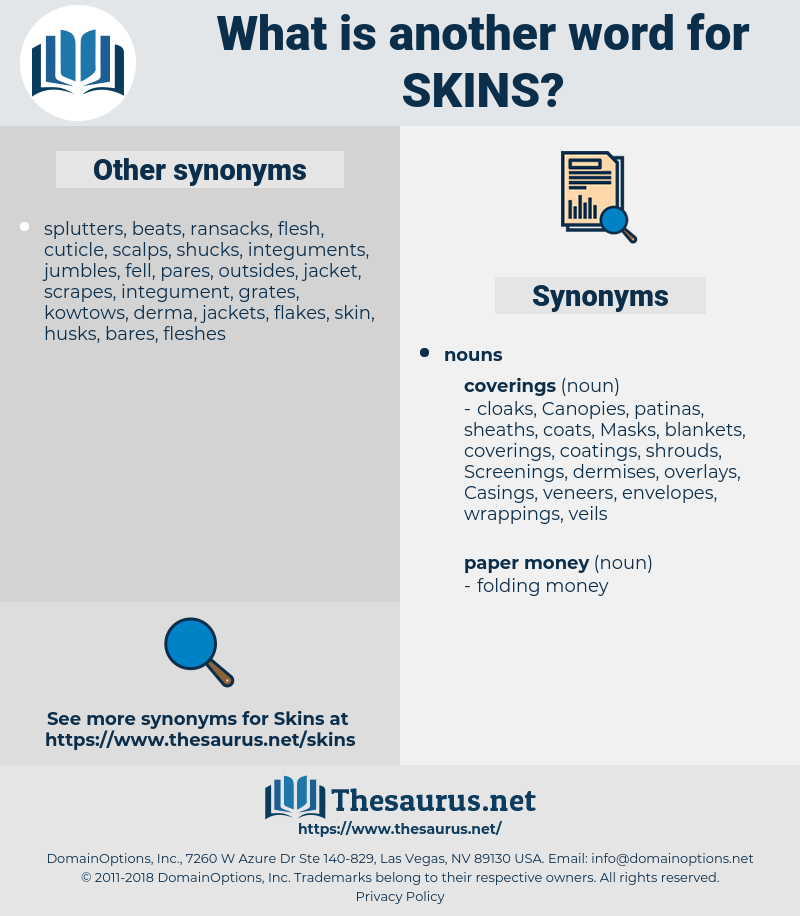 skins, synonym skins, another word for skins, words like skins, thesaurus skins