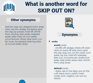 skip out on, synonym skip out on, another word for skip out on, words like skip out on, thesaurus skip out on