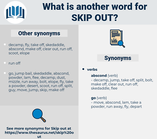 skip out, synonym skip out, another word for skip out, words like skip out, thesaurus skip out