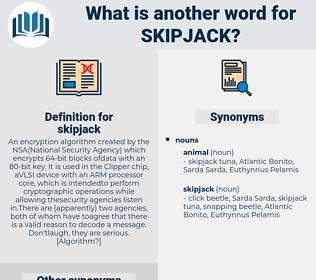 skipjack, synonym skipjack, another word for skipjack, words like skipjack, thesaurus skipjack