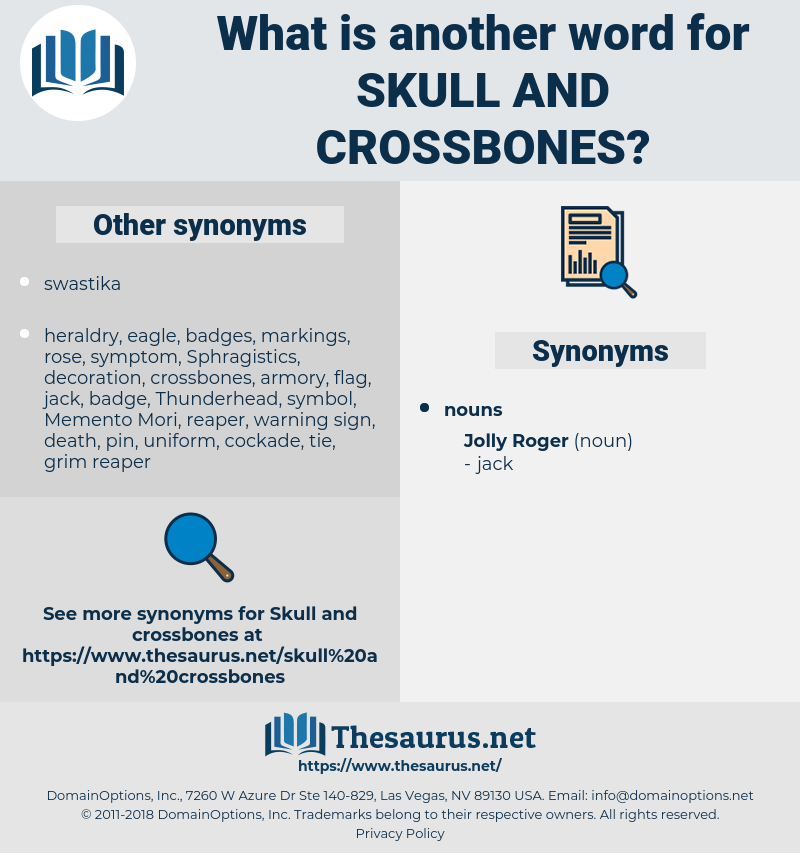 skull and crossbones, synonym skull and crossbones, another word for skull and crossbones, words like skull and crossbones, thesaurus skull and crossbones