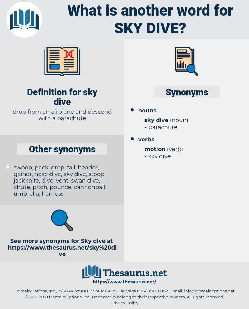 sky dive, synonym sky dive, another word for sky dive, words like sky dive, thesaurus sky dive