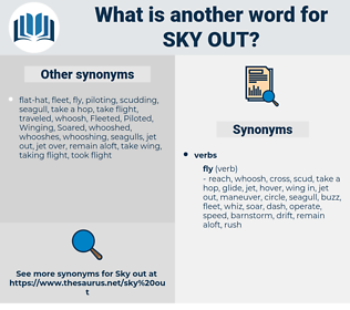 sky out, synonym sky out, another word for sky out, words like sky out, thesaurus sky out