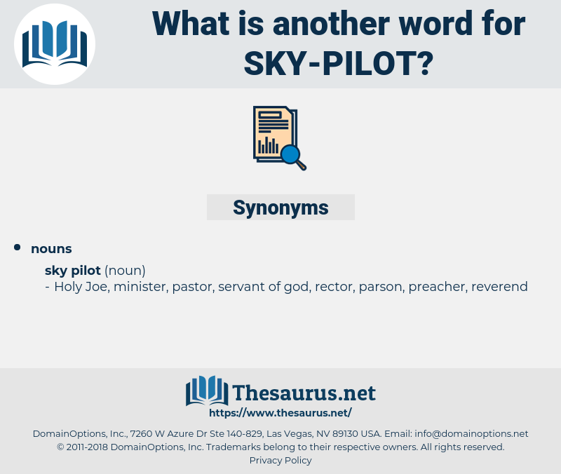 sky pilot, synonym sky pilot, another word for sky pilot, words like sky pilot, thesaurus sky pilot