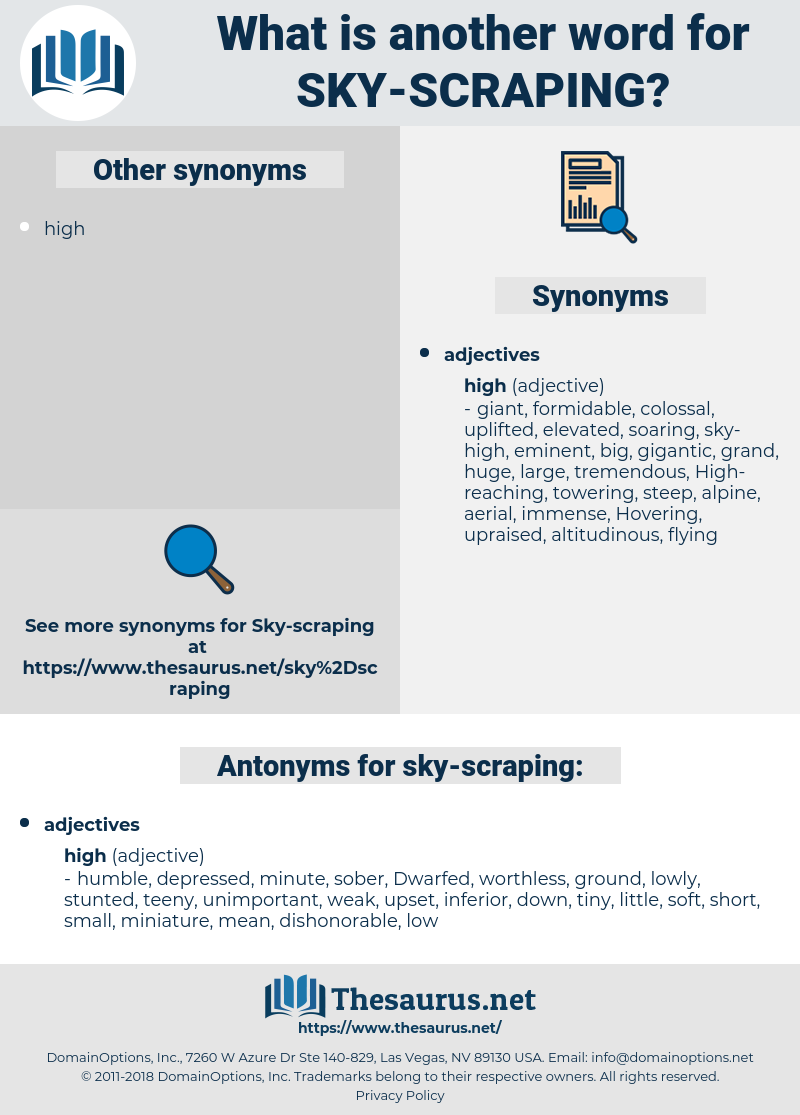 sky-scraping, synonym sky-scraping, another word for sky-scraping, words like sky-scraping, thesaurus sky-scraping