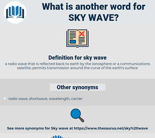 sky wave, synonym sky wave, another word for sky wave, words like sky wave, thesaurus sky wave