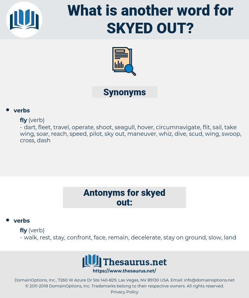 skyed out, synonym skyed out, another word for skyed out, words like skyed out, thesaurus skyed out