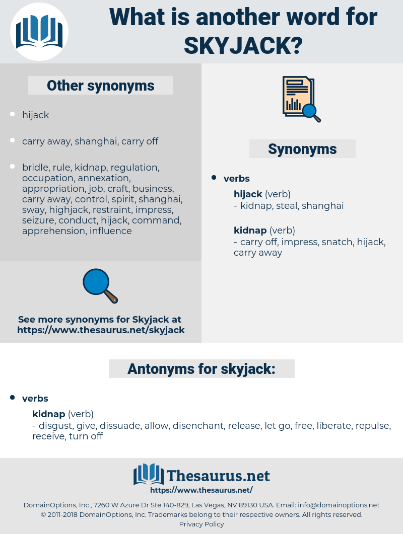 skyjack, synonym skyjack, another word for skyjack, words like skyjack, thesaurus skyjack