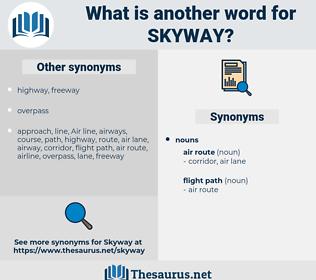 skyway, synonym skyway, another word for skyway, words like skyway, thesaurus skyway