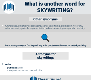 skywriting, synonym skywriting, another word for skywriting, words like skywriting, thesaurus skywriting