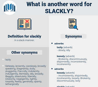 slackly, synonym slackly, another word for slackly, words like slackly, thesaurus slackly