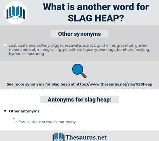 slag heap, synonym slag heap, another word for slag heap, words like slag heap, thesaurus slag heap