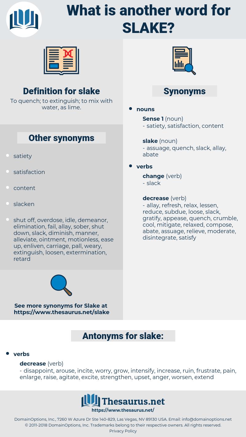 slake, synonym slake, another word for slake, words like slake, thesaurus slake