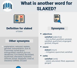 slaked, synonym slaked, another word for slaked, words like slaked, thesaurus slaked