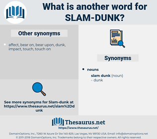 slam dunk, synonym slam dunk, another word for slam dunk, words like slam dunk, thesaurus slam dunk