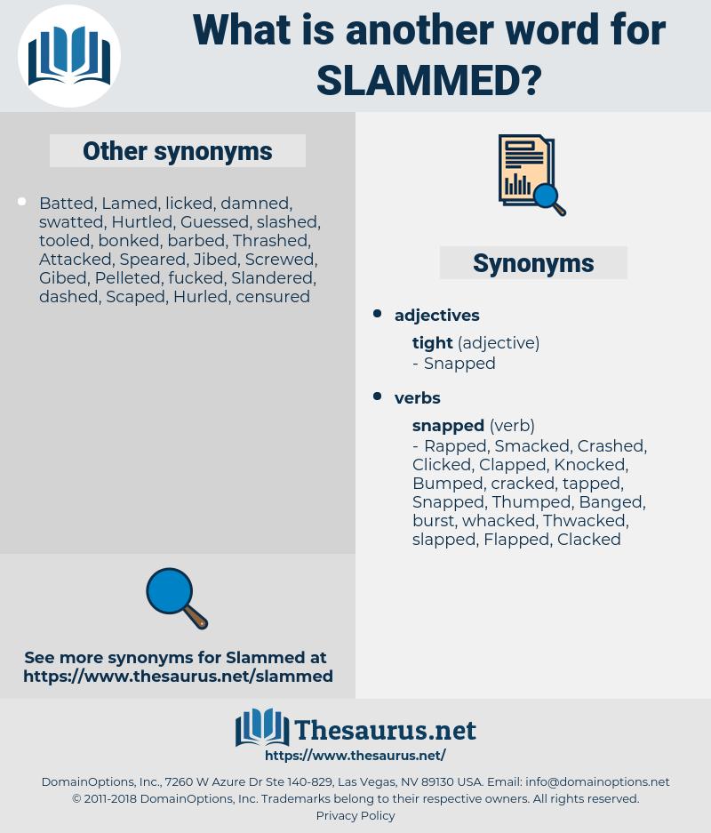 Slammed, synonym Slammed, another word for Slammed, words like Slammed, thesaurus Slammed
