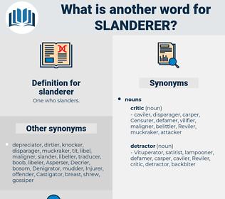 slanderer, synonym slanderer, another word for slanderer, words like slanderer, thesaurus slanderer