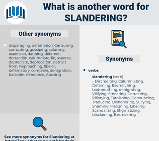 Slandering, synonym Slandering, another word for Slandering, words like Slandering, thesaurus Slandering