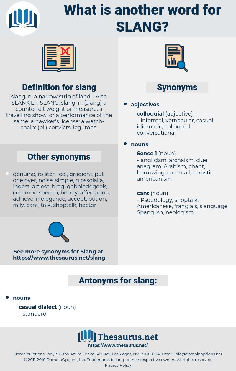 slang, synonym slang, another word for slang, words like slang, thesaurus slang