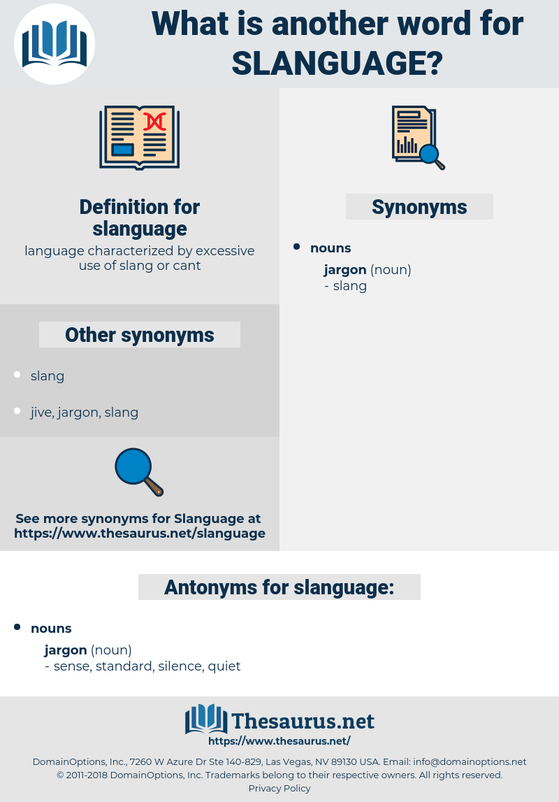slanguage, synonym slanguage, another word for slanguage, words like slanguage, thesaurus slanguage