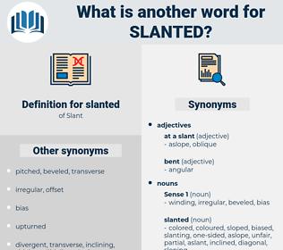 slanted, synonym slanted, another word for slanted, words like slanted, thesaurus slanted