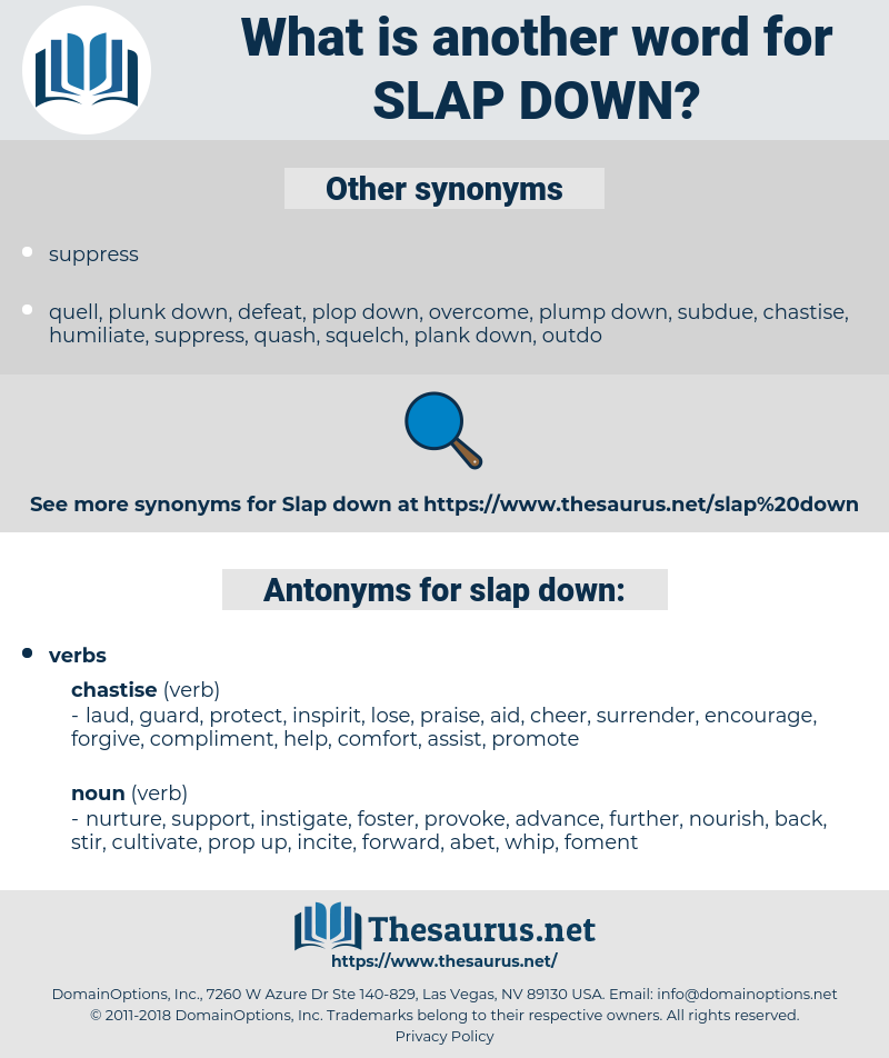 slap down, synonym slap down, another word for slap down, words like slap down, thesaurus slap down