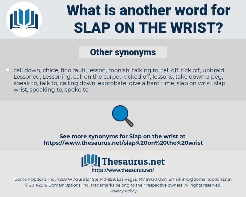 slap on the wrist, synonym slap on the wrist, another word for slap on the wrist, words like slap on the wrist, thesaurus slap on the wrist