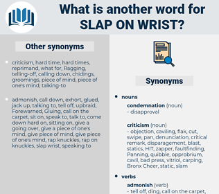 slap on wrist, synonym slap on wrist, another word for slap on wrist, words like slap on wrist, thesaurus slap on wrist