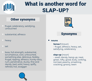 slap-up, synonym slap-up, another word for slap-up, words like slap-up, thesaurus slap-up