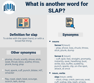 slap, synonym slap, another word for slap, words like slap, thesaurus slap