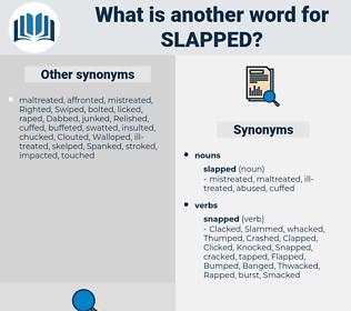 slapped, synonym slapped, another word for slapped, words like slapped, thesaurus slapped