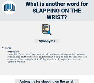 slapping on the wrist, synonym slapping on the wrist, another word for slapping on the wrist, words like slapping on the wrist, thesaurus slapping on the wrist