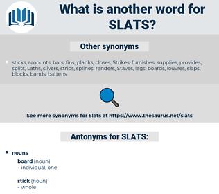SLATS, synonym SLATS, another word for SLATS, words like SLATS, thesaurus SLATS