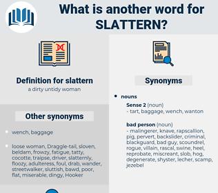slattern, synonym slattern, another word for slattern, words like slattern, thesaurus slattern
