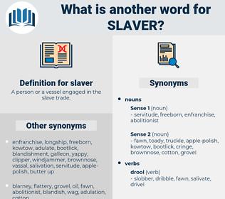 slaver, synonym slaver, another word for slaver, words like slaver, thesaurus slaver