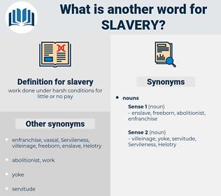 slavery, synonym slavery, another word for slavery, words like slavery, thesaurus slavery