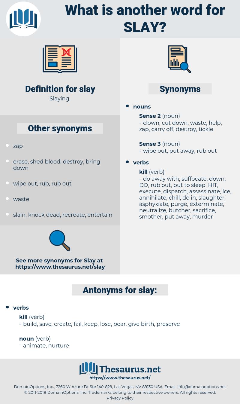slay, synonym slay, another word for slay, words like slay, thesaurus slay