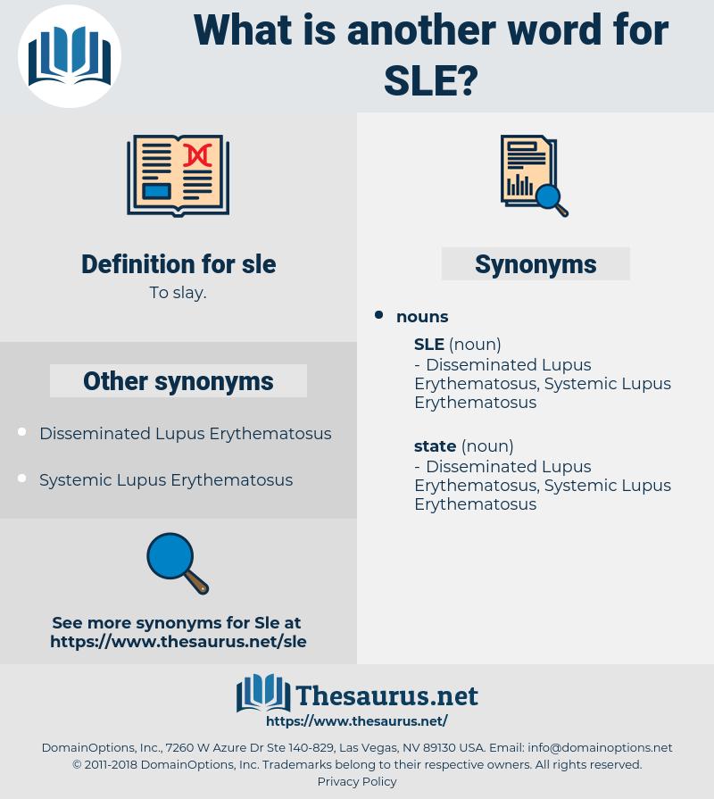sle, synonym sle, another word for sle, words like sle, thesaurus sle