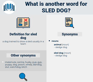 sled dog, synonym sled dog, another word for sled dog, words like sled dog, thesaurus sled dog