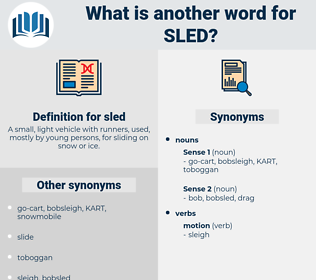 sled, synonym sled, another word for sled, words like sled, thesaurus sled
