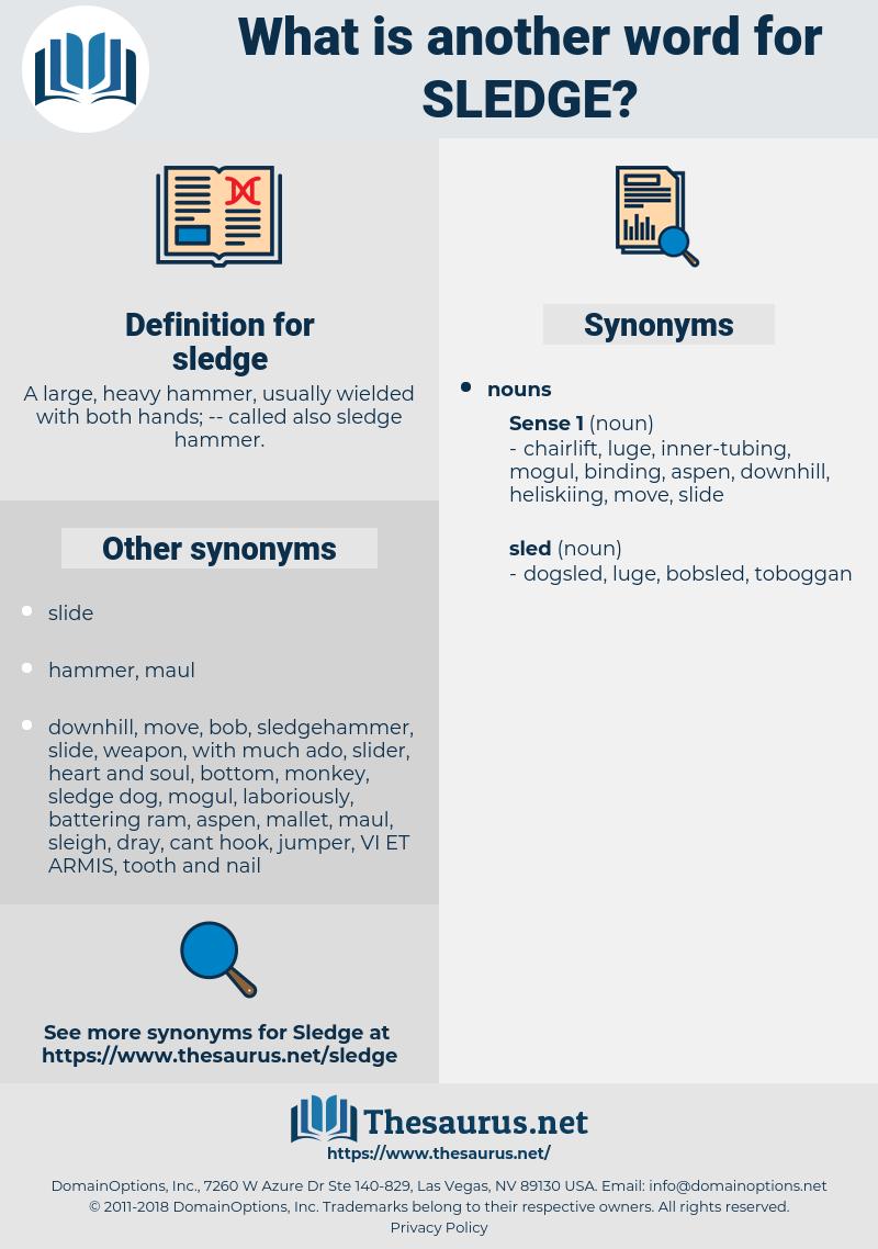 sledge, synonym sledge, another word for sledge, words like sledge, thesaurus sledge