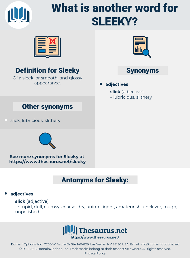 Sleeky, synonym Sleeky, another word for Sleeky, words like Sleeky, thesaurus Sleeky