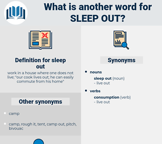 sleep out, synonym sleep out, another word for sleep out, words like sleep out, thesaurus sleep out