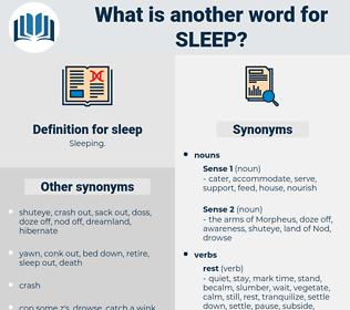 sleep, synonym sleep, another word for sleep, words like sleep, thesaurus sleep